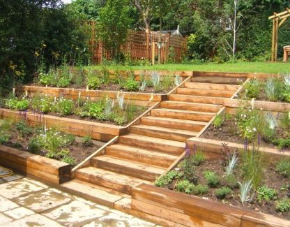 That is How to Make Garden Steps on a Slope 8